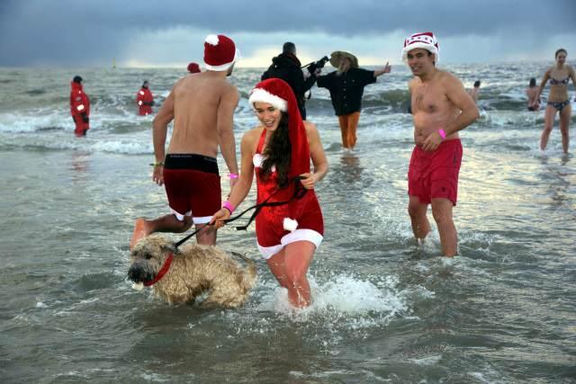 Weihnachtsbaden auf Sylt mit Hund