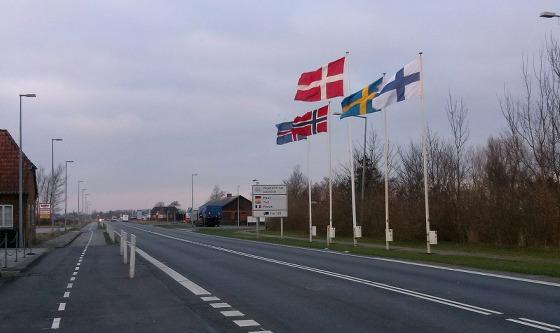 Grenzübergang Dänemark nach Sylt
