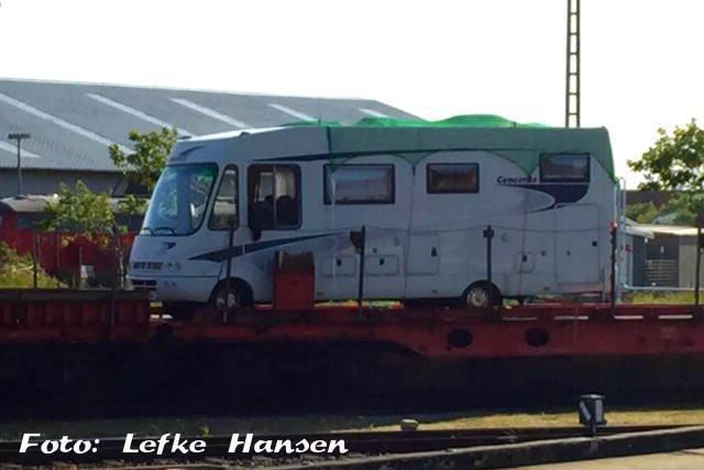 Autozug Sylt sichert Wohnmobile mit Netzen