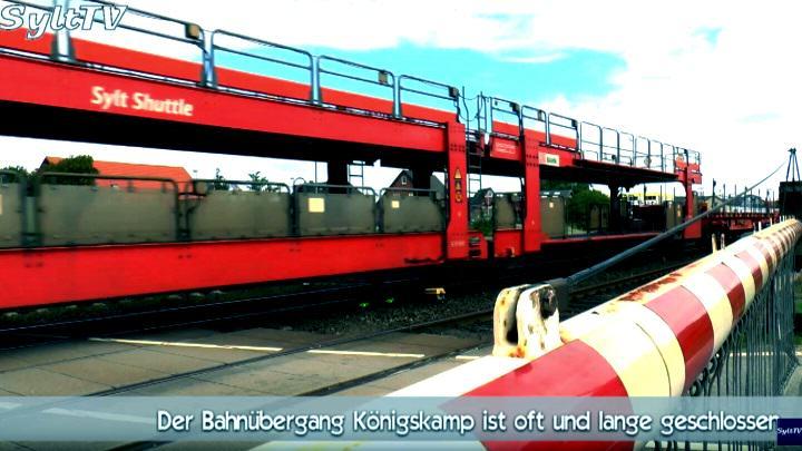 Der Bahnübergang Königskamp in Tinnum/Sylt nervt die Passanten