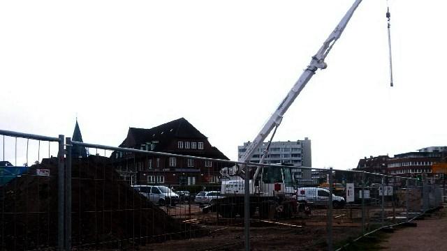 Baustellen am Bahnhof von Westerland