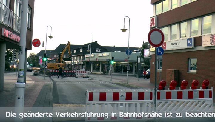 Der Bahnweg in Westerland ist aktuell gesperrt