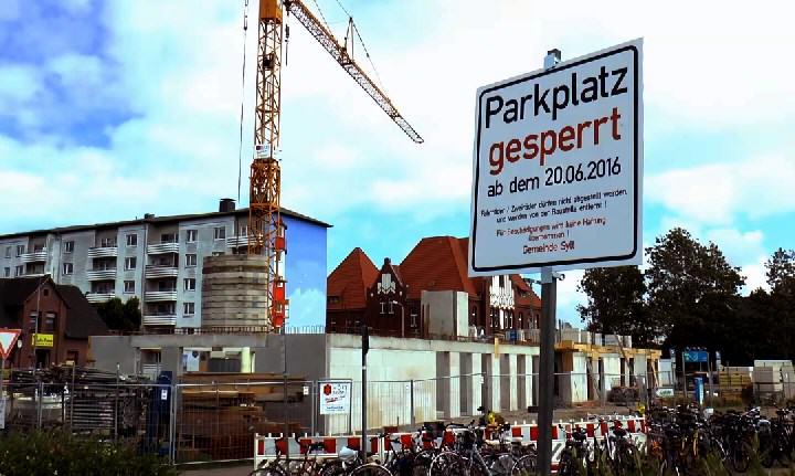 Parkplatz am Bahnhof Westerland gesperrt