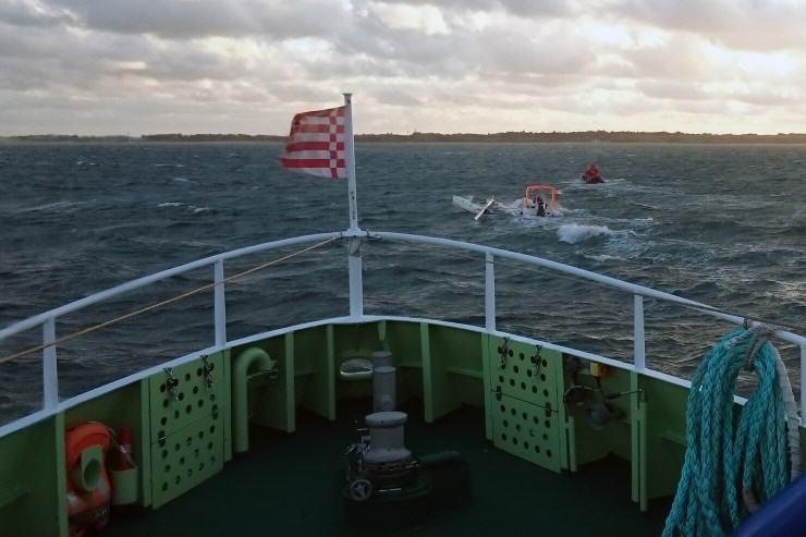Seenotretter im Einsatz vor Munkmarsch