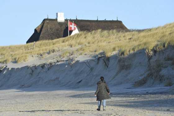 Entspannt am Strand von Sylt wandern