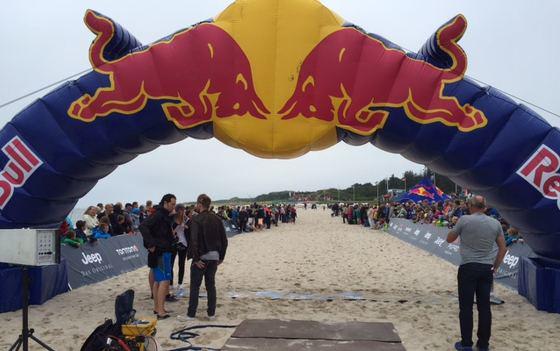 Red Bull Zieleinlauf auf Sylt