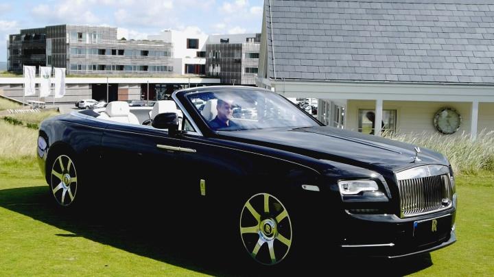 Rolls Royce Cabrio Dawn auf Sylt präsentiert