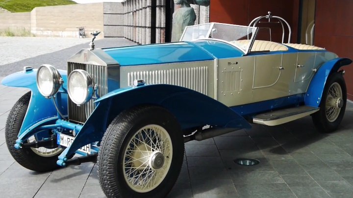 Rolls Royce Oldtimer vor dem Hotel Budersand