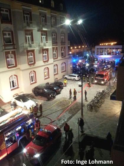 Feuerwehr Westerland am Hotel Miramar