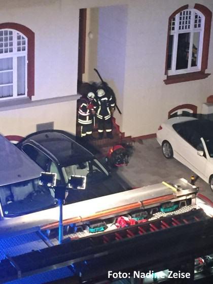 Die Feuerwehr entlüftet das Hotel auf Sylt