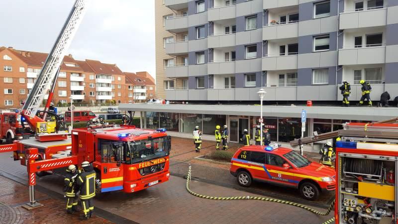 Feuerwehreinsatz im Haus Ankerlicht in Westerland