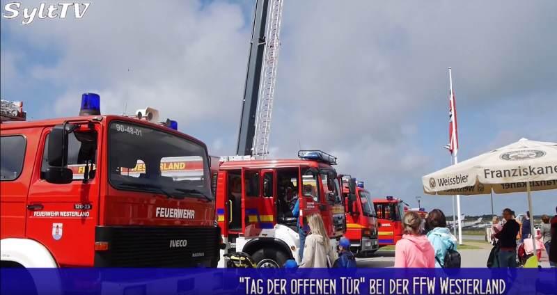 Die Westerländer Feuerwehr feierte ihren Tag der offenen Tür