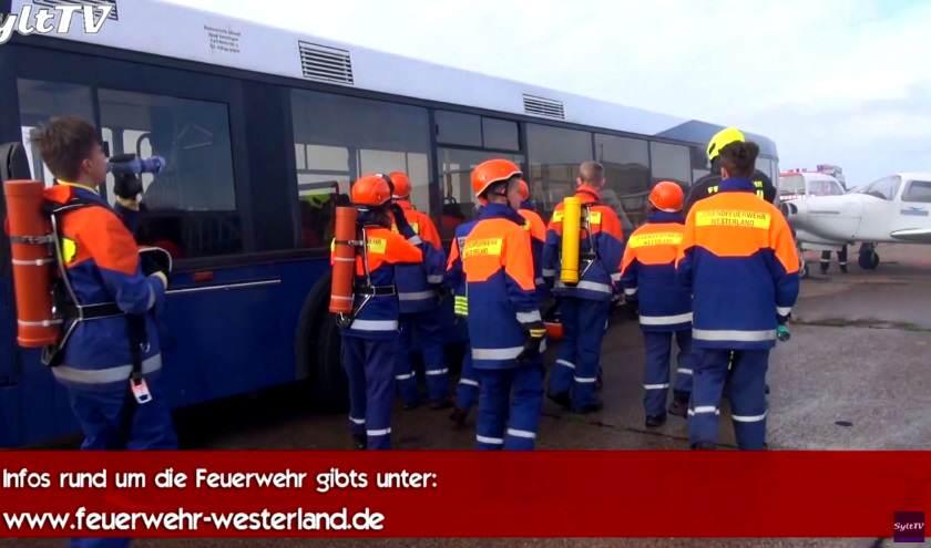 Jugendfeuerwehr Westerland bei einer 24 Stunden Übung