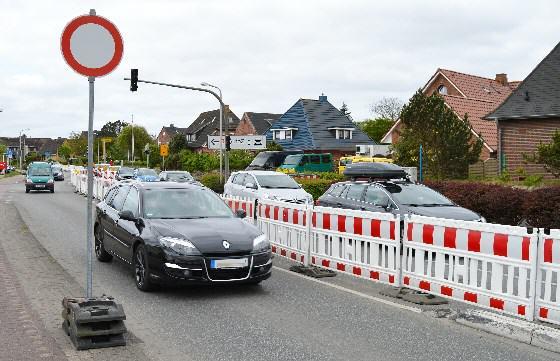 Verkehrsprobleme auf Sylt durch Baustellen