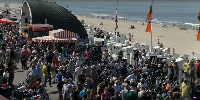 Die Harley Promenade von Westerland auf Sylt