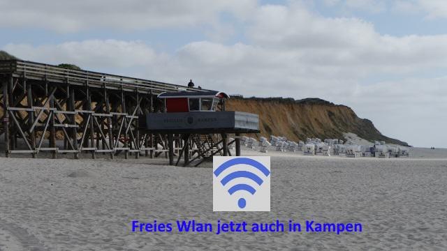 Freies Wlan jetzt auch in Kampen auf Sylt am Strand