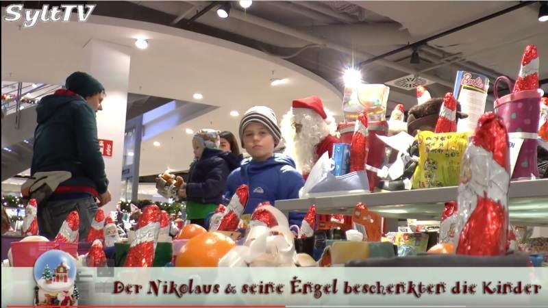 Großzügig wurden die Kinder bei H.B. Jensen vom Nikolaus beschenkt