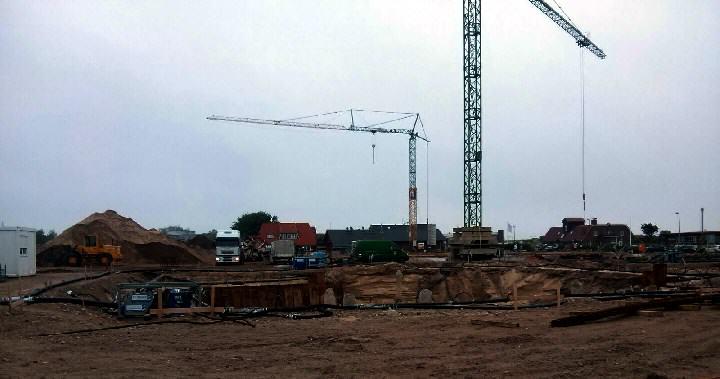 Baustelle der Lister Mitte Mai 2016