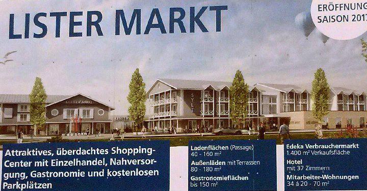 Der List Markt in der Mitte des Ortes