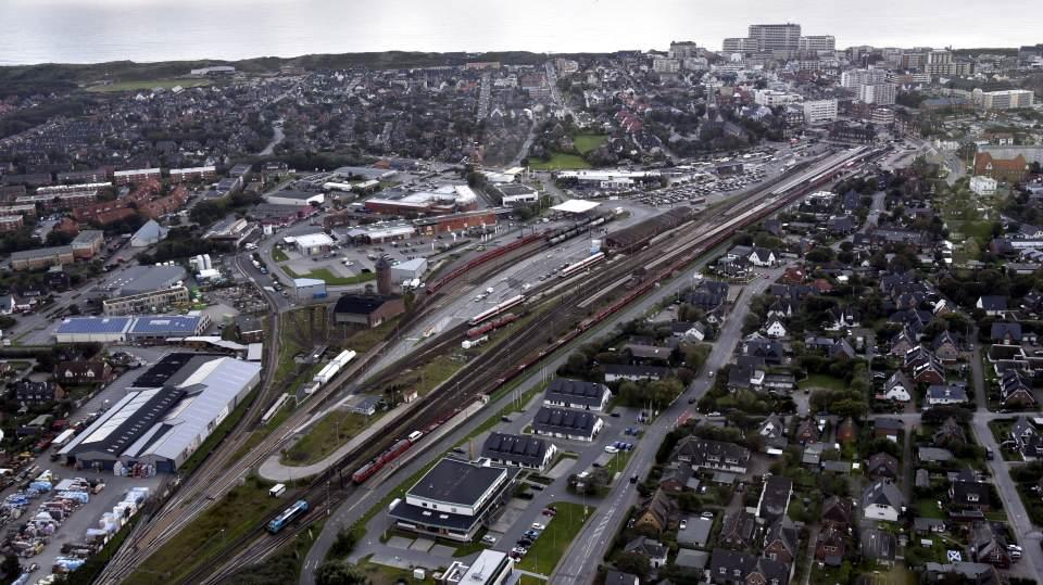 Der Westerländer Bahnhof und die Verlade aus der Luft