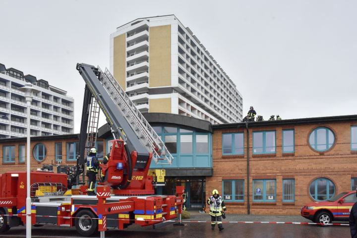 Die Feuerwehr auf Sylt musste wegen des Sturms ausrücken