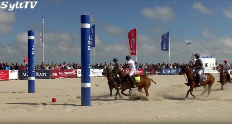 Tor im Endspiel und den Beach Polo World Cup Sylt