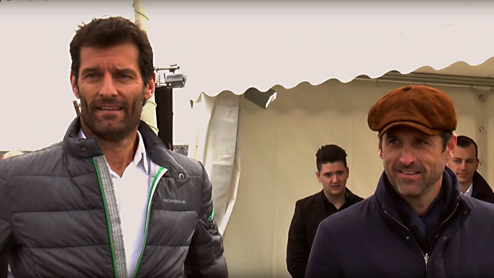 Mark Webber und Patrick Dempsey als Porsche Guides auf der Insel