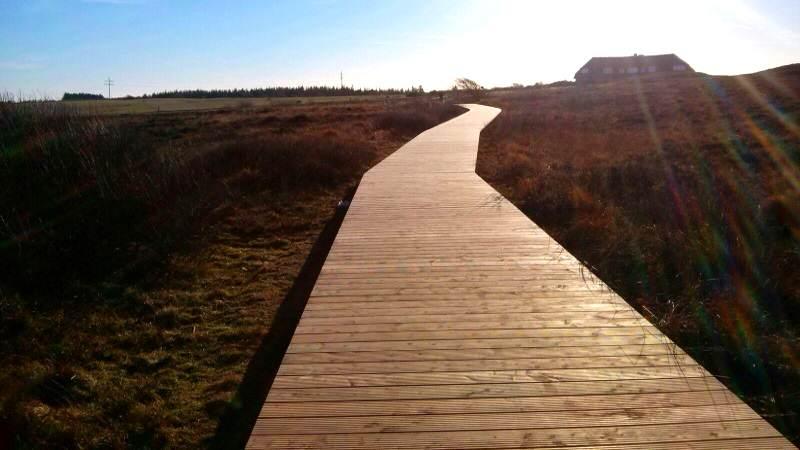 Der Holzbohlenweg zum Morsum Kliff