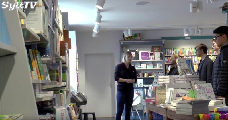 Im Buchhaus Voss gab es interessante Infos für die Schüler