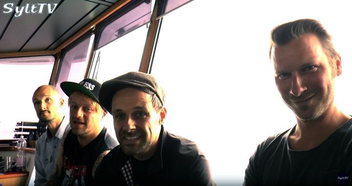 Die DONOTS freuten sich richtig auf ihren Gig an Bord