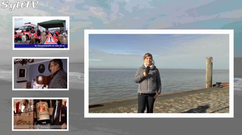 Gewohnt charmant präsentiert Antje die Sylter News