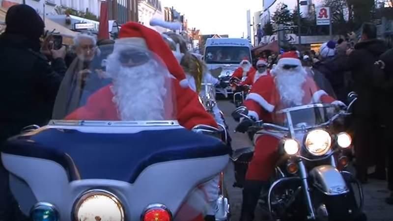 Die Harleys knattern am 1. Weihnachtsfeiertag durch Westerland