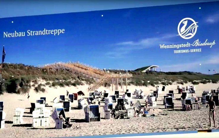 Die neue Strandtreppe in Wenningstedt entsteht