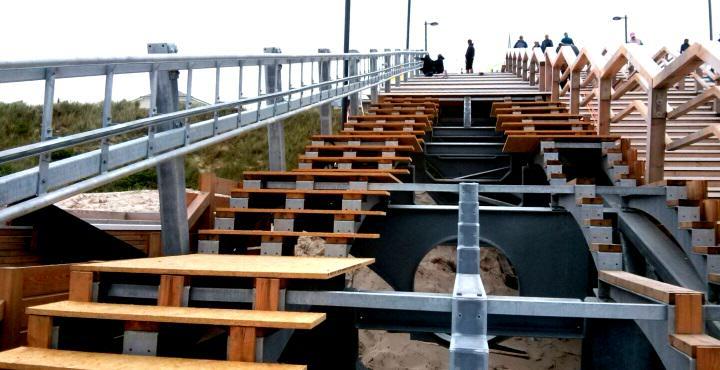 Schrägaufzug und Rutsche erhält die neue Strandtreppe in Wenningstedt