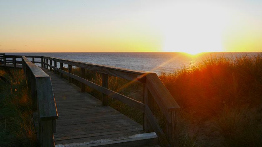 Sunset Sylt im goldenen Oktober