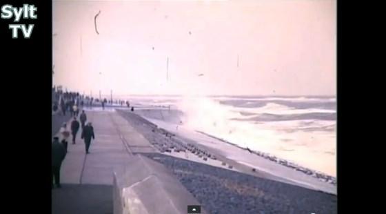 Sturmflut 1966 in Westerland auf Sylt