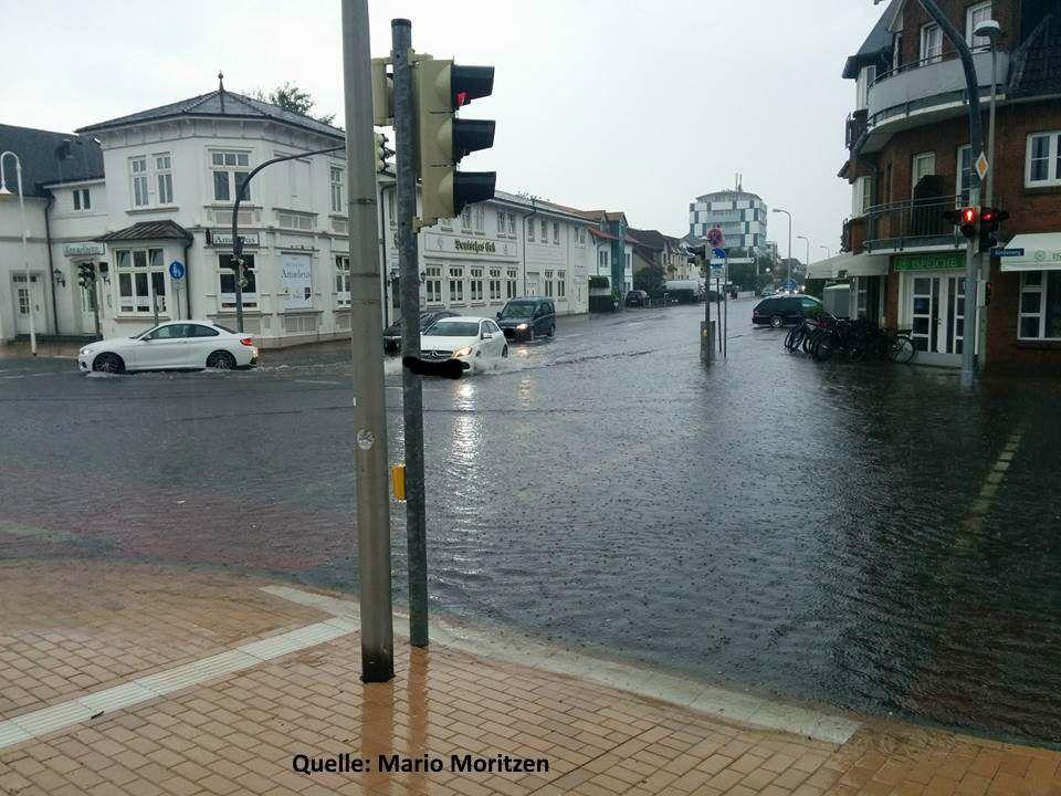 Fast in der ganzen Innenstadt von Westerland sah es so aus