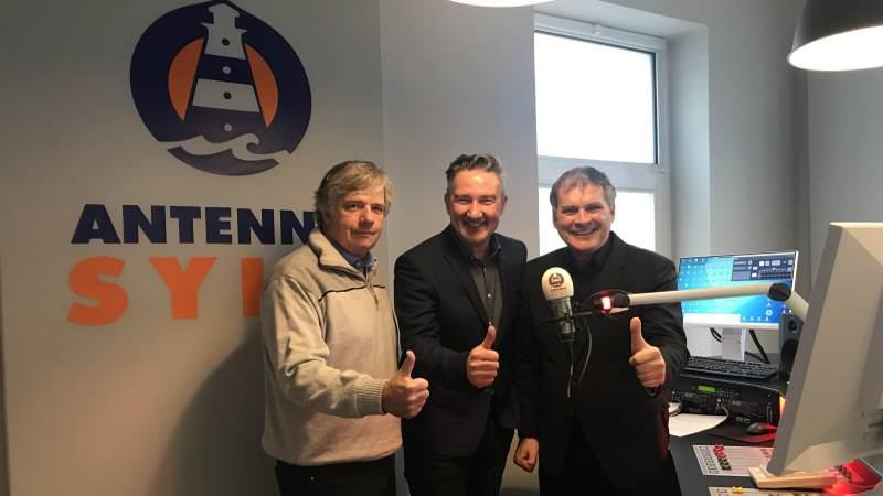 Geschäftsführer Steffen Müller, Programmdirektor Martin Kraus, Gesellschafter Joachim Wussow