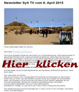 Sylt TV Newsletter per Email