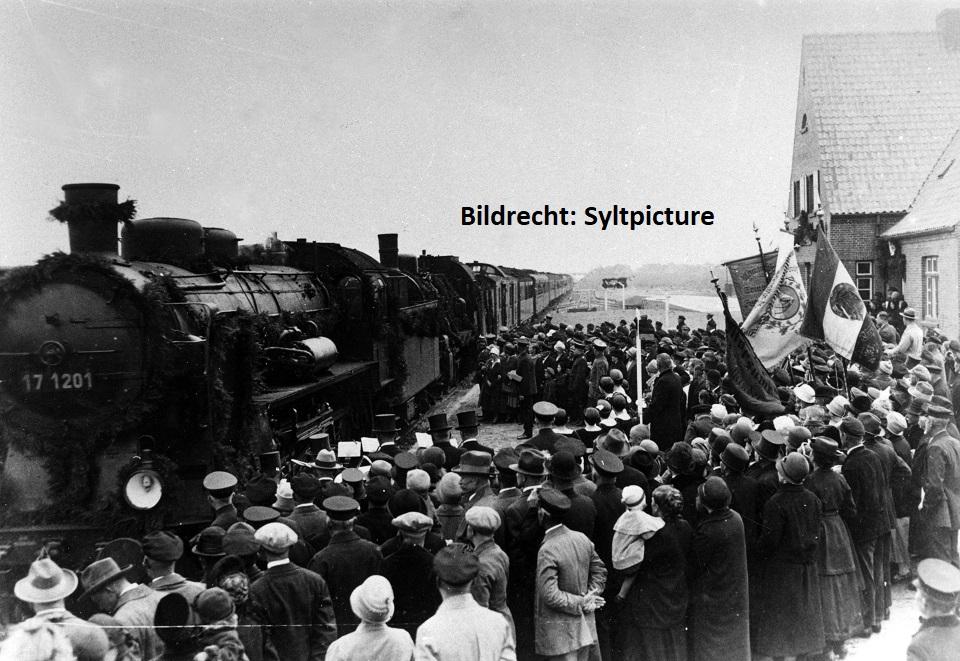 Bau des Hindenburgdamms