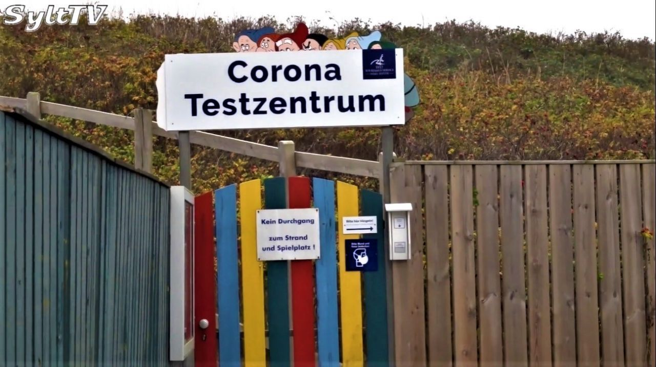 Das Corona Testzentrum in Westerland auf Sylt