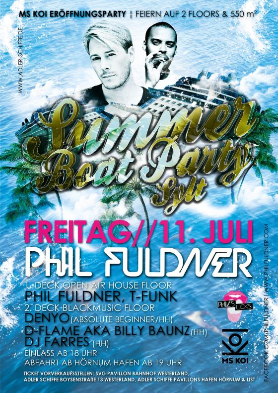 Summer Boat Party Sylt