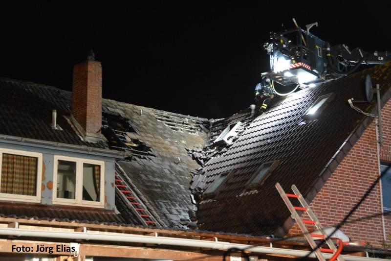 Das Dach wurde leider zerstört