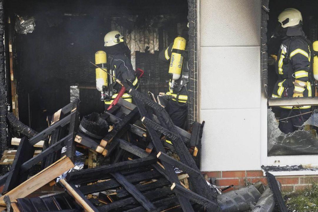 Das Sylter Fitnesscenter wurde durch den Brand erheblich beschädigt
