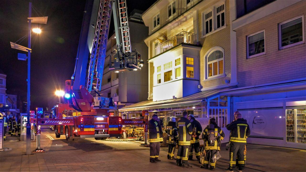Die Feuerwehr Westerland war sehr schnell vor Ort