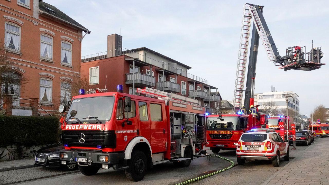 Die Feuerwehr WEsterland/Sylt hatte die Lage zum Glück sehr schnell unter Kontrolle bekommen