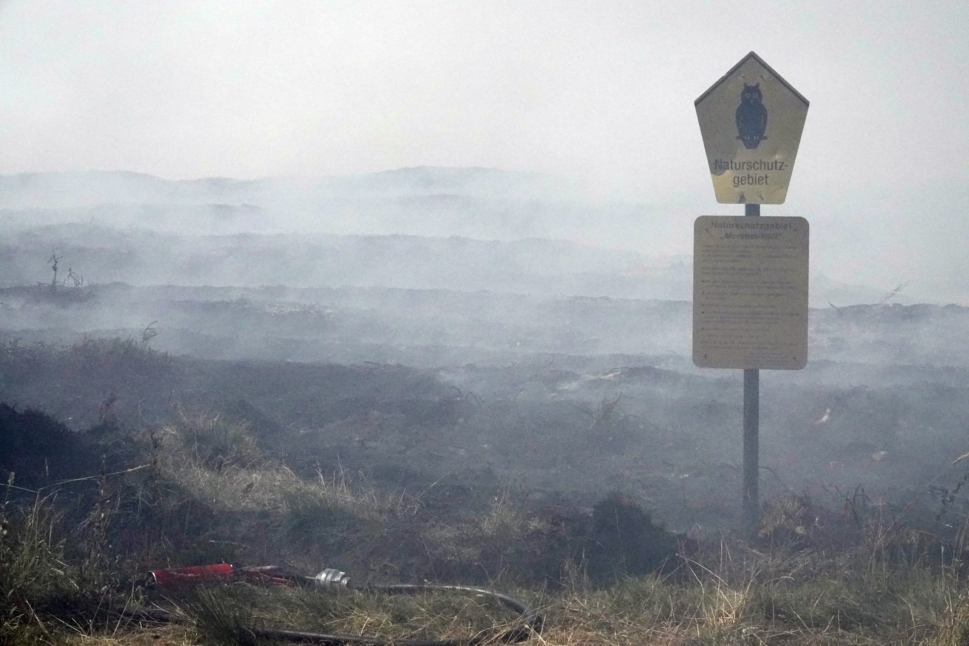 Heidebrennen 2018 auf dem Morsum Kliff
