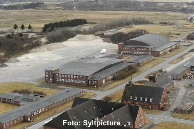 Das Gelände des Marinefliegerhorstes auf Sylt
