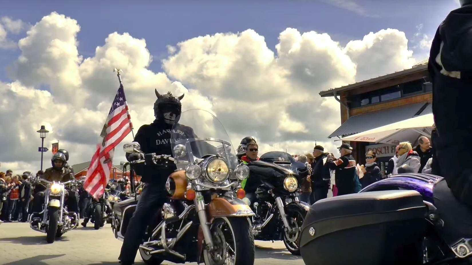 Der Harley Korso über die Insel Sylt ist der Höhepunkt des Wochenendes
