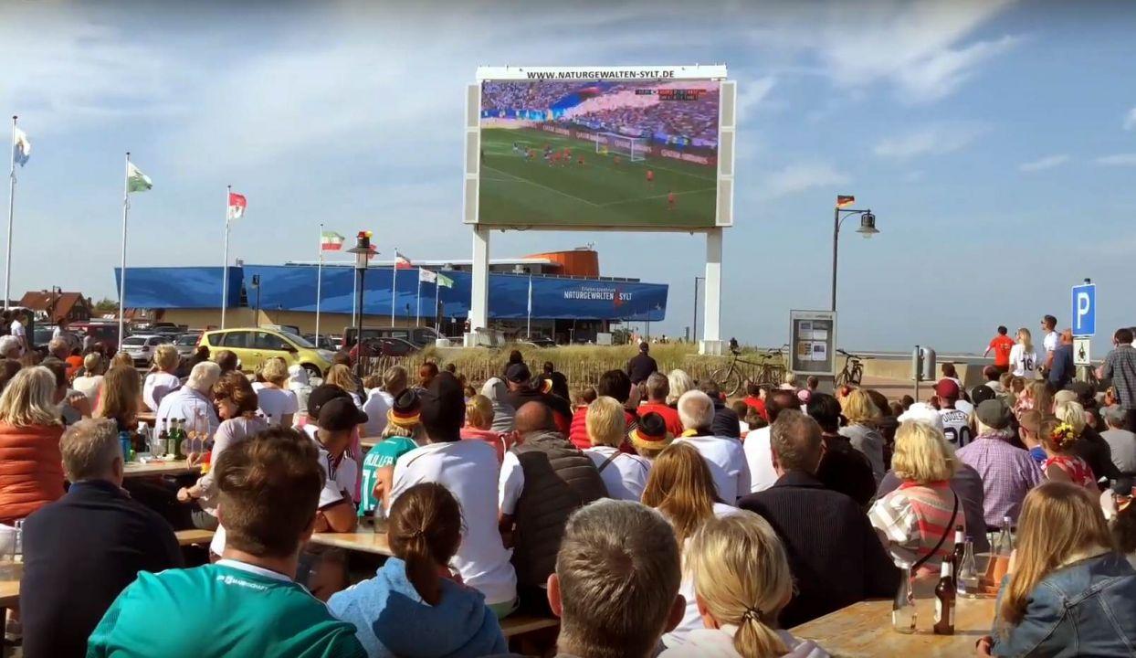 Fußballfieber herrschte im Lister Hafen